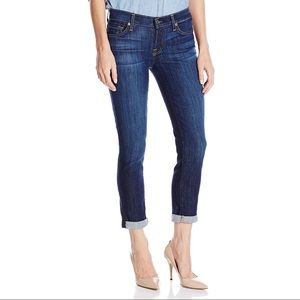 7 FOR ALL MANKIND skinny crop and roll jeans